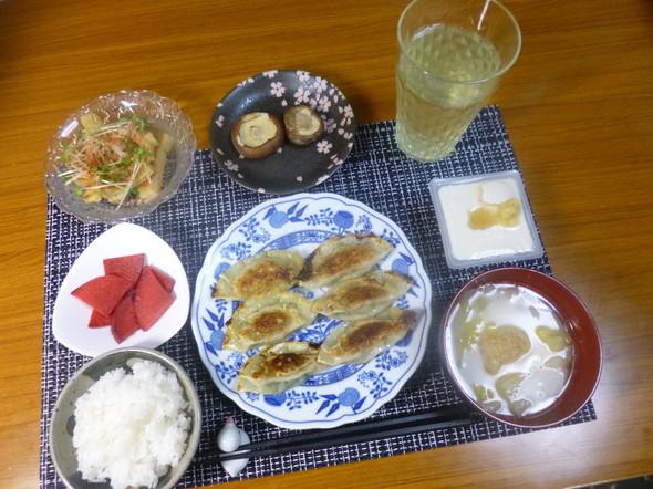 超簡単♪我が家のウマウマ餃子!の夕食☆