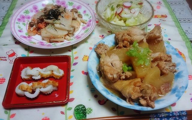 大根 煮物 の と 献立 鶏