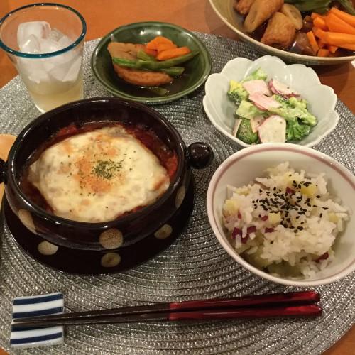 肉巻き豆腐のトマトソースグラタン♡夕食