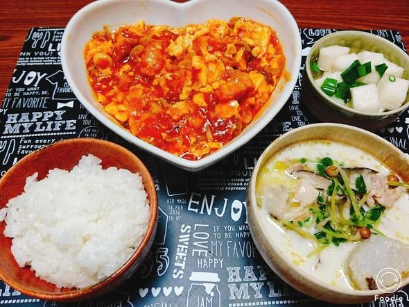 エビチリで中華な夜ご飯