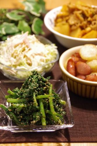 自家製野菜で夜ごはん