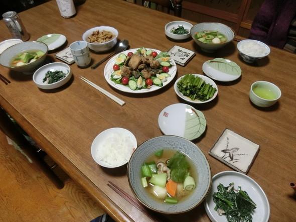 おばあちゃんちで 鯖の竜田揚げで夕ご飯