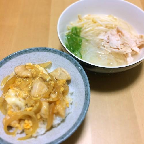親子丼の夕ごはん☆