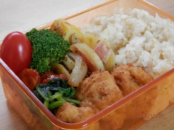 豆腐と挽肉のチキンナゲット弁当