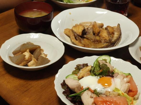 チキンサラダで晩ご飯(11/22)