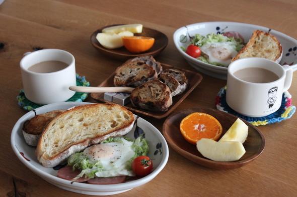 休日パン朝食