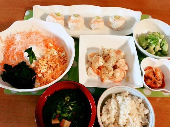 *エビがプリプリ♬の夕食*