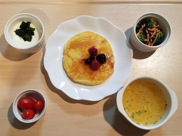 2017/12/20高級パンケーキの朝食