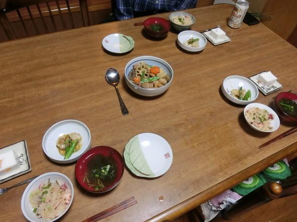 たこ飯の 年末夕ご飯