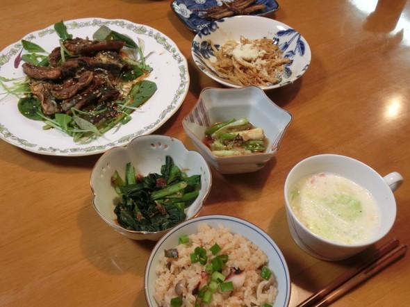 蛸飯で 夕ご飯