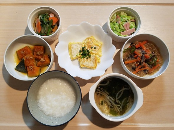 1/8☆玉子を着たお豆腐と春雨きくらげ