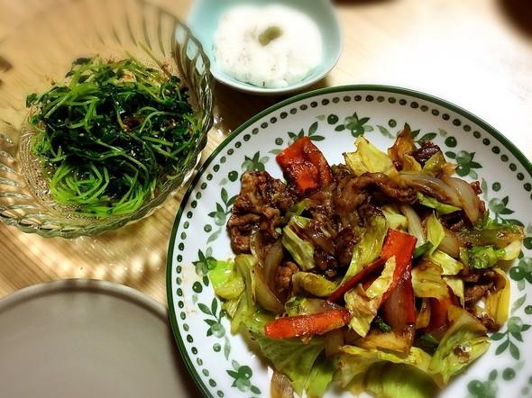 こってり中華とさっぱりな副菜