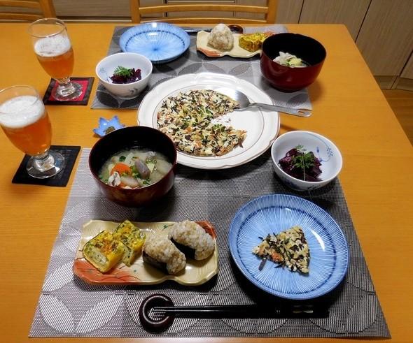 擬製豆腐錦焼きで夕食★
