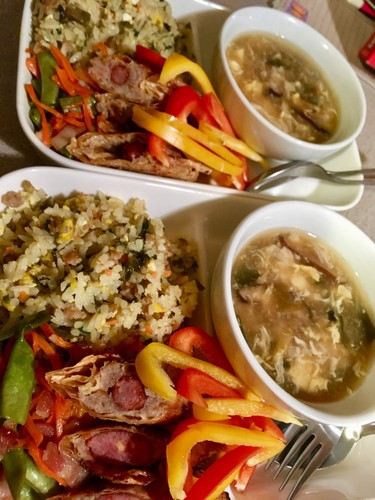 高菜とひき肉の炊き込みご飯