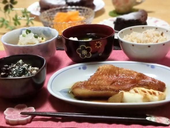 ♡赤魚の煮つけで夕ご飯♡