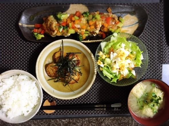 豆腐ハンバーグwith野菜餡かけ★晩御飯