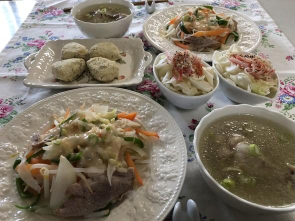 居酒屋さんの糸コンと野菜の明太マヨソース