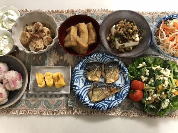 ルッコラと玉子のハニーマスタードサラダ