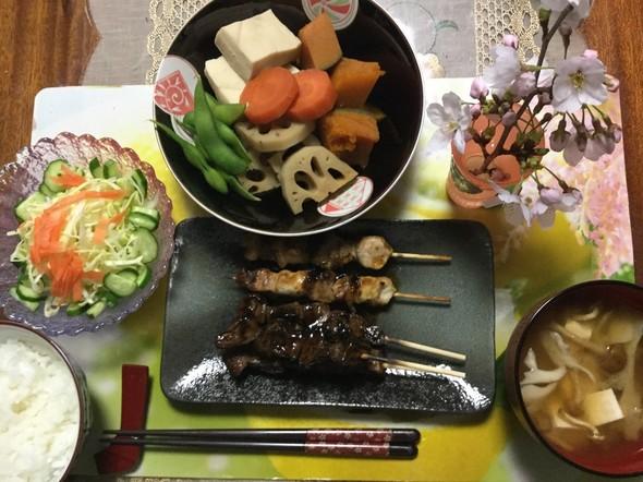 ☆焼き鳥で晩ご飯☆