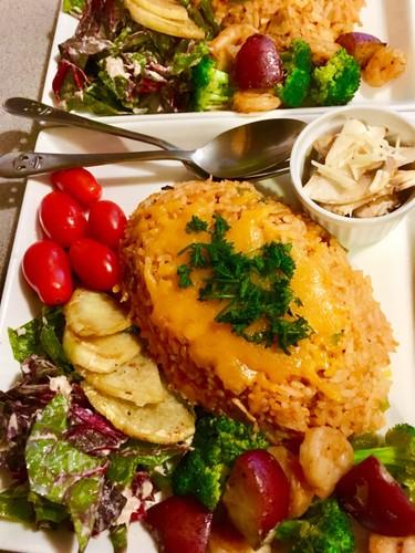 チキンライス♪残りご飯簡単クリスマス夕食