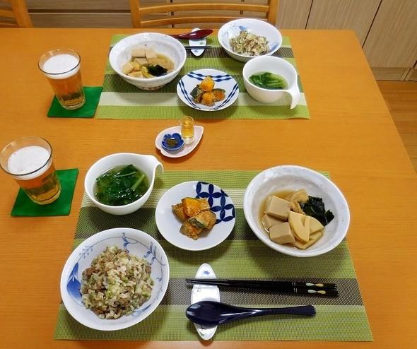 旬の筍で手ばかりダイエットの夕食★