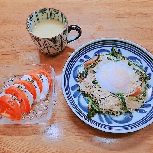 菜の花の素麺チャンプルー