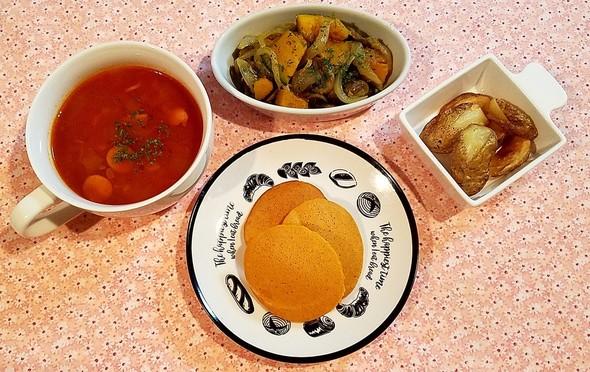 かぼちゃとマッシュルーム炒め✧*インド風