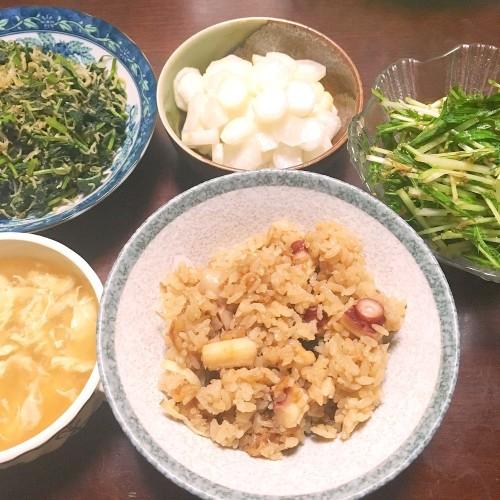 タコ飯の夕ごはん☆