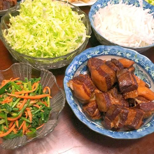 豚の角煮の夕ごはん☆