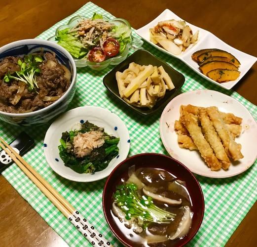簡単♡牛丼の晩ご飯~♪