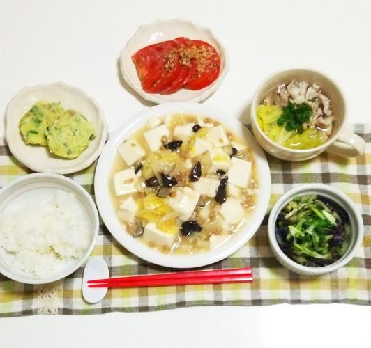 あっさり味噌マーボー豆腐で晩ごはん