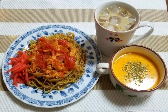 イタリアン焼きそば パプリカのスープ 他