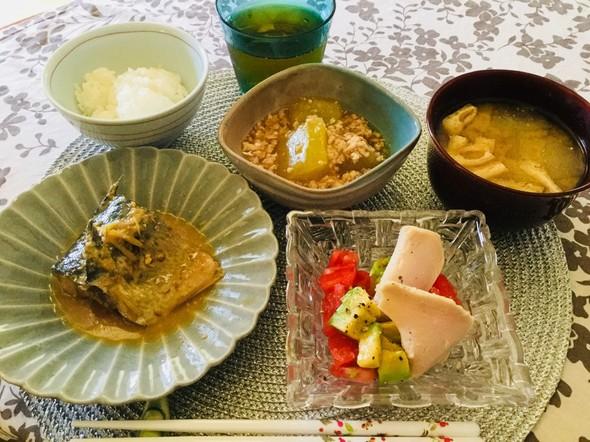 冬瓜と鯖で定食風お昼ご飯