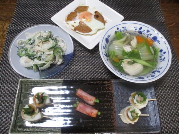2018/6/27鶏鍋スープで姉とお昼
