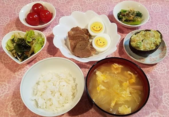 煮豚と煮卵&アボガドのココット