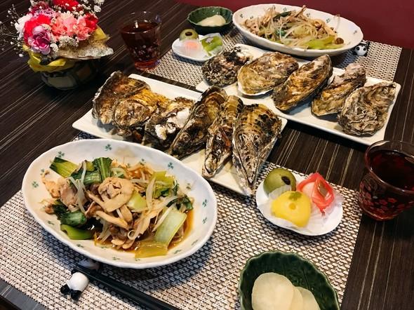 2018.6.28 蒸し牡蠣とオイマヨ