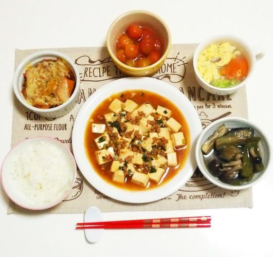 本格麻婆豆腐で晩ごはん