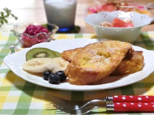 ♡休日の朝☆フレンチトーストで朝ごはん♡