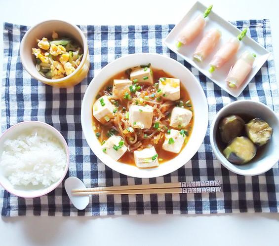 トロトロ白菜麻婆豆腐で晩ごはん