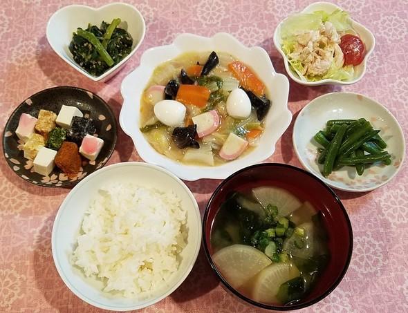 八宝菜&鶏ハムのカレーマヨ・サラダ