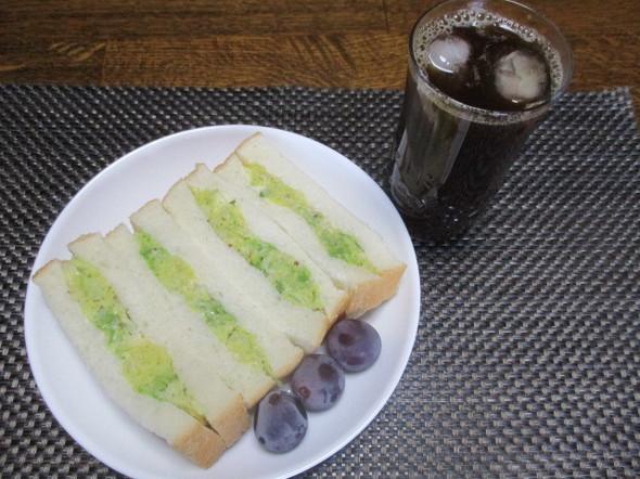 2018/9/3白菜サンドと珈琲の麦茶割