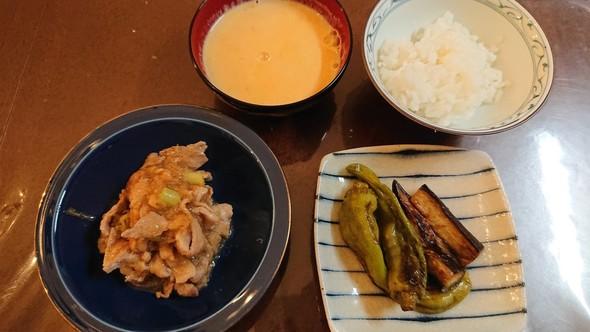 豚肉おろしあんかけ×南瓜とコーンのスープ