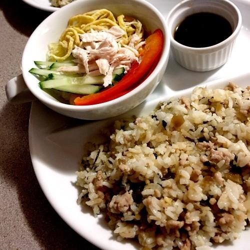 炒めて炊くだけ〜高菜と挽肉の炊き込みご飯