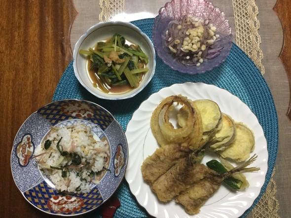 ☆鯵の天ぷらで晩ご飯☆