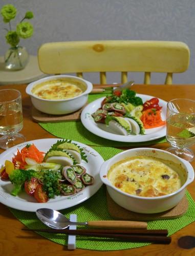 18.10.02(火)豆腐キノコグラタン