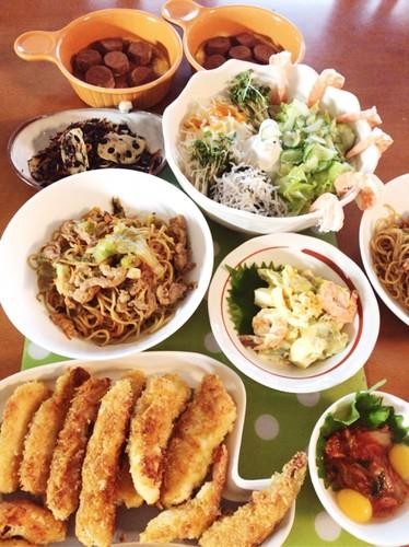 *家にある物で色々作った日の夕食*