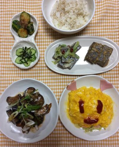 茄子と玉ねぎのピリ辛炒め煮 ☆卌陸夜