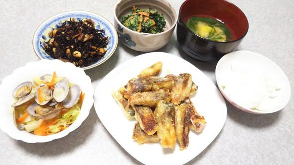 鯖の竜田揚げで晩ご飯