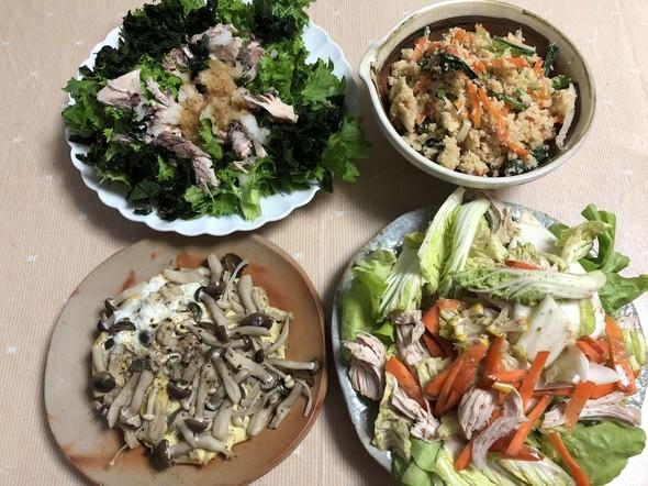 わさび菜と鯖缶のさっぱりおろしサラダ
