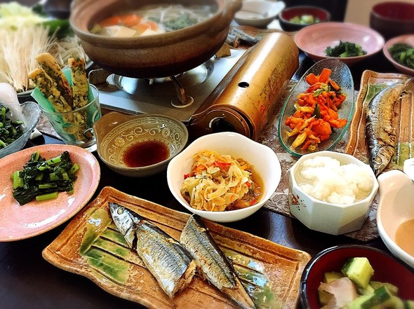 ぶたしゃぶ鍋と秋刀魚とおつまみの日